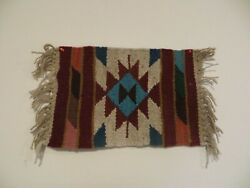 Hand Woven Wool Southwest Native Tapestry in Multicolors
