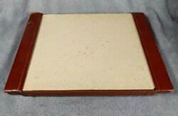 Vintage Mark Cross Italy Desktop Blotter Mat Paper And Organizer Leather