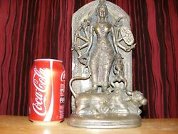 Antique Bronze Statue Of Deity,very Rare,silvered,collectable.vintage,heavy Item