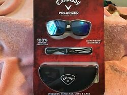 Callaway Polarized Sunglasses With Extra Strap And Portable Case (BLUE LENS) NEW