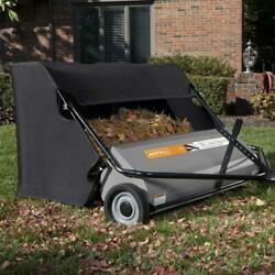 Lawn Sweeper Xl Tow Behind 50 Inch 26 Cubic Foot Tractor Mower Attachment Hopper