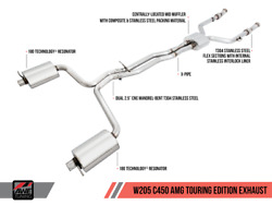Awe Tuning Touring Exhaust For 17-18 Mercedes Amg C43 4matic Awd - 3015-31012