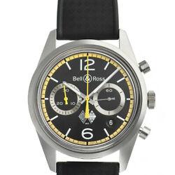 Free Shipping Pre-owned Bell And Ross Brv126-rs40-st/srb Renault 40th Anniversary