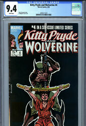 Kitty Pryde And Wolverine 4 1985 Marvel Cgc 9.4 White Pages