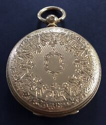Antiques 18 Ct Solid Gold Full Hunter Pocket Watch By Waltham