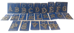 2004 Artistic Impressions Silhouettz Key Ring Sliver-toned Dolphins Various Ltrs