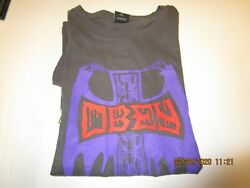OBEY Grim Cross WOMEN#x27;S T SHIRT new with tags Faded Black MEXICO SIZE X LARGE $11.99