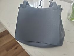 Designer - The Row Chrome Blue Sidekick Two Bag