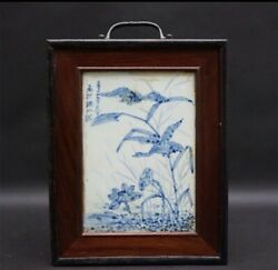 Chinese Art Antique Mahjong Tiles Old Age Dyeing Pottery Box