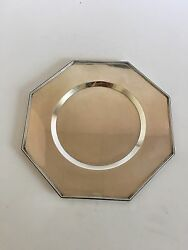 Wiwen Nilsson Sterling Silver Octogonal Charger Lund 1940