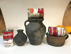 Antique German Jug 13-14th Century Stoneware Pottery Rare Early Medieval Museum