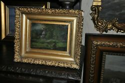 Antique Painting By Walter F.lansil 1846 - 1925 Listed American Artist