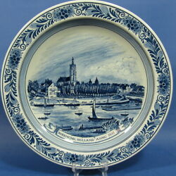 F198 Roermond Anno 1851 On 12½ Delft Wall Plate By Goedewaagen