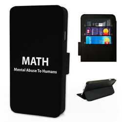 Math Joke Abuse - Flip Phone Case Cover Wallet - Fits Samsung S8 S9 S10 Note