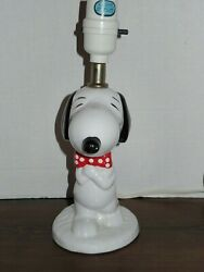 Vintage Snoopy Table Lamp From Peanuts 1958 1966 United Feature Syndicate Inc.