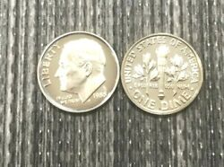 1988 P D S Roosevelt Dime From Mint Sets In Mint Cello And Cam Proof 3 Coin Set