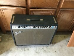 Vintage 1972 Fender Twin Reverb Silverface Electric Guitar Tube Amp - Gc