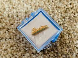 Vintage Antique Boyertown Burial Casket Company Pin 1/20th 12kt Gold