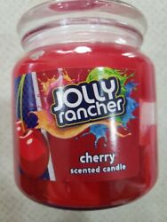 1 NEW Jolly Rancher CHERRY Air Scented Wick RED Candle 14.75 Oz Glass Jar