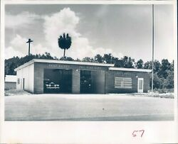 1961 Press Photo Port Richey City Hall Fire Station St Petersburg FL 8x10