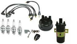Ford 8n Distributor Ignition Tune Up Kit Usa Copper Spark Plug Wires And 12v Coil