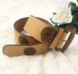 Catherine Dial Easley Brown Leather Belt Size Large