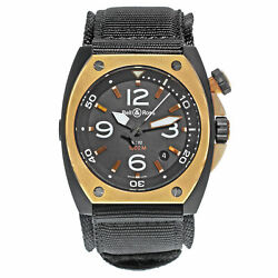 Bell And Ross Marine Automatic Matte Black Pvd Steel Mens Watch Br02_pinkgold_ca