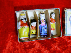 Rare 1930and039s Comic Moon Mullins 4 Figures Boxed Set - Made In Japan