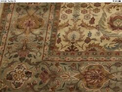 Hand Knotted Rug 9 X 12 Beautiful Jewel Colors Of Gold Greens Rust And Burgundy