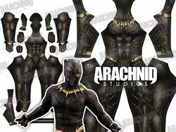 Black Panther Killmonger/gold Janguar/ 3d Printing With Muscle Shading Costume