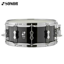 NEW Sonor AQ2 Series 14quot; x 6quot; Chrome Plated Transparent Stain Black Snare Drum