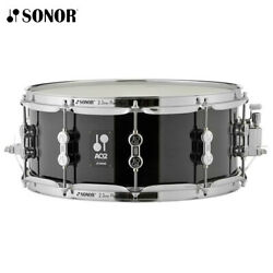 NEW Sonor AQ2 Series 13quot; x 6quot; Chrome Plated Transparent Stain Black Snare Drum
