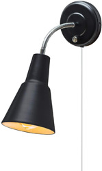 Black Wall Mount Sconce Light Task Lamp Hardwire Plug In Reading 6ft Clear Cord