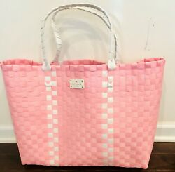 KATE SPADE New York BAG LARGE PINK  WITH WHITE TOTE