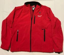 Milwaukee Mens M12 Cordless Heated Red Jacket ONLY Size Large (no Battery)