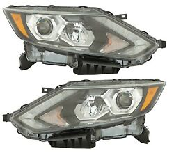 Fit Nissan Rogue Sport 2017-2019 Led Headlights Head Lights Front Lamps Pair