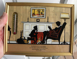 Vintage Snowgren Produce, Zearing, Iowa Ia Thermometer And Silhouette Picture