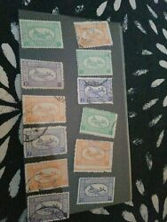 Lot Of 12 Saudi Arabia Stamp First Issue By Saudi Government