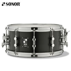 NEW Sonor SQ1 Series 14quot; x 6.5quot; Birch Chrome Plated GT Black Snare Drum