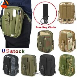 Men Tactical Molle Pouch Belt Waist Pack Bag Pocket Military Camping Travel Tool