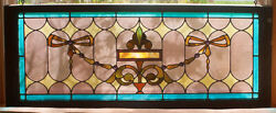 Antique Leaded Stained Glass Window/from Iowa
