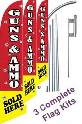 Sale Windless Guns And Ammo Swooper Flutter Feather Flag Sign Win Blade Banner