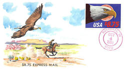 2394 8.75 Express Mail Gary Davis H/p Tied By Unofficial Rushville, In [374726]