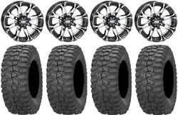 Sti Hd3 14 Wheels Machined 32 Rock-a-billy Tires Can-am Renegade Outlander