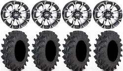 Sti Hd3 14 Wheels Machined 32x9.5 Outback Max Tires Can-am Renegade Outlander