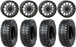 System 3 Sb-5 Grey 15 Wheels 33 Chicane Rx Tires Can-am Renegade Outlander