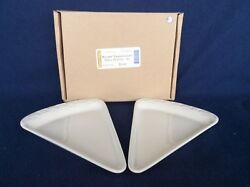 Longaberger Plates 2 Ivory Off White Appetizer Pizza Pie Triangle Tapas New