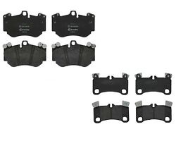 Front And Rear Brembo Lowmet Brake Pad Set Kit For Cayenne Turbo 2005 Ie81 Min 19