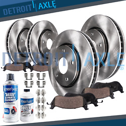 334mm Front + 310mm Rear Disc Brake Rotors + Ceramic Pads For Rwd Lexus Is350