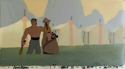 Hand Painted Cel And Background From The Film Mulan For Sothebyand039s 1999 Auction